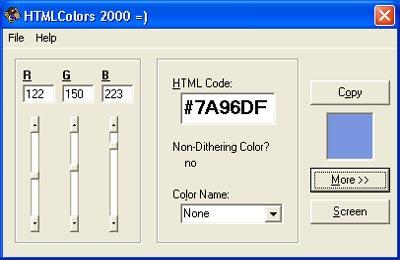 Бесплатно HTMLColors 2000