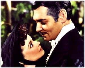 Девушка красива в глазах влюблённого мужчины. Классика. Влюблённые Ред Батлер и Скарлетт О'Хара.